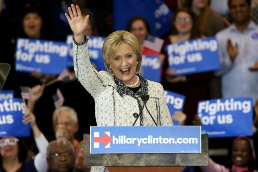 Hillary Clinton Hosts Primary Night Event In Columbia, South Carolina